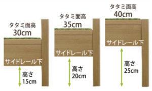 高さ3段階調整可能